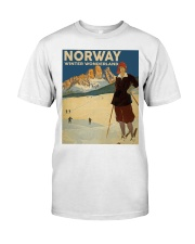 NORWAY VINTAGE TRAVEL Classic T-Shirt thumbnail