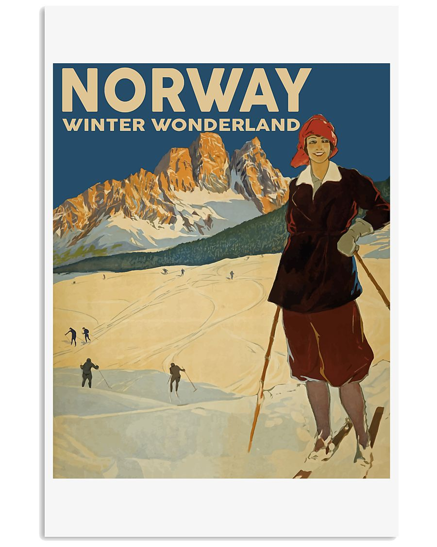 NORWAY VINTAGE TRAVEL 11x17 Poster
