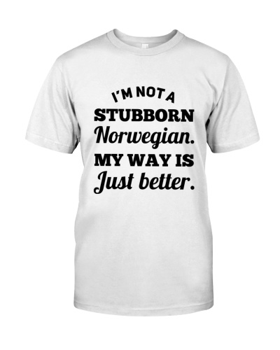 NOT A STUBBORN NORWEGIAN