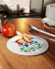 UFF DA NORWEGIAN ROSEMALING Circle Cutting Board aos-cuttingboard-circle-small-lifestyle-02