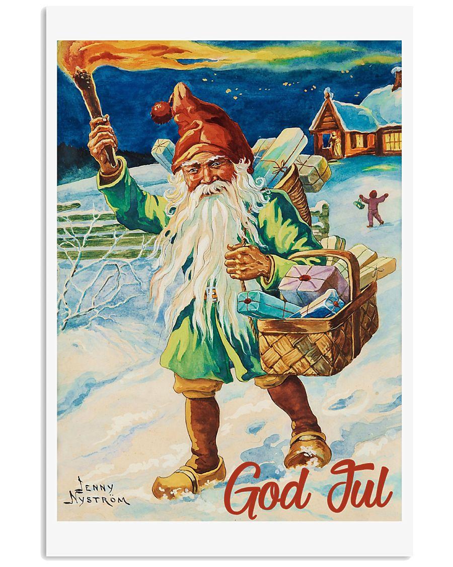 NORWAY GOD JUL NISSE 1947 VINTAGE 11x17 Poster
