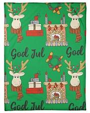 "NORWEGIAN GOD JUL MERRY CHRISTMAS CUTE Small Fleece Blanket - 30"" x 40"" thumbnail"