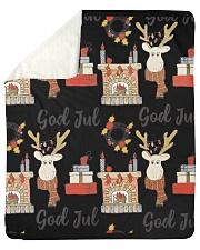 "NORWEGIAN GOD JUL MERRY CHRISTMAS CUTE Sherpa Fleece Blanket - 50"" x 60"" thumbnail"