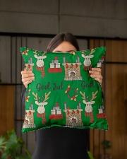 "NORWEGIAN GOD JUL MERRY CHRISTMAS CUTE Indoor Pillow - 16"" x 16"" aos-decorative-pillow-lifestyle-front-03"
