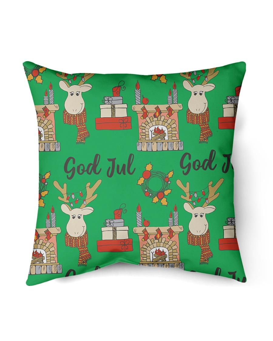 """NORWEGIAN GOD JUL MERRY CHRISTMAS CUTE Indoor Pillow - 16"""" x 16"""""""