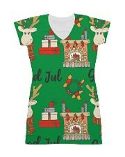 NORWEGIAN GOD JUL MERRY CHRISTMAS CUTE All-over Dress thumbnail