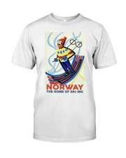 NORWAY THE HOME OF SKI-ING VINTAGE  Classic T-Shirt thumbnail