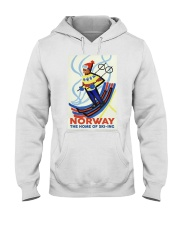 NORWAY THE HOME OF SKI-ING VINTAGE  Hooded Sweatshirt thumbnail