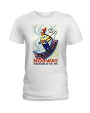 NORWAY THE HOME OF SKI-ING VINTAGE  Ladies T-Shirt thumbnail