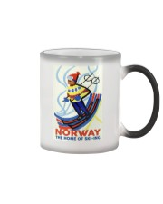 NORWAY THE HOME OF SKI-ING VINTAGE  Color Changing Mug thumbnail