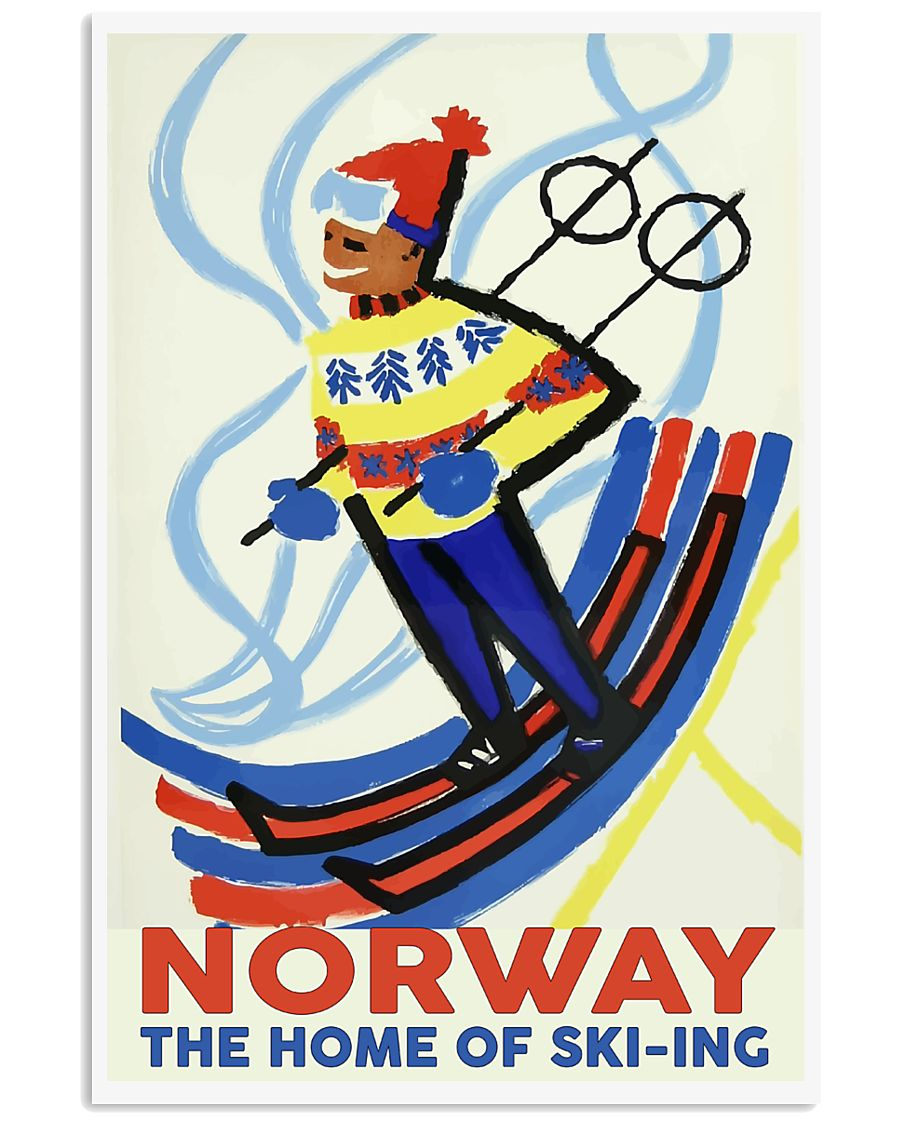 NORWAY THE HOME OF SKI-ING VINTAGE  11x17 Poster