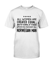 MARRIED TO A NORWEGIAN MAN Classic T-Shirt front