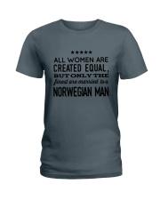 MARRIED TO A NORWEGIAN MAN Ladies T-Shirt thumbnail
