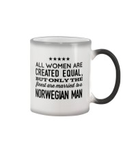 MARRIED TO A NORWEGIAN MAN Color Changing Mug thumbnail