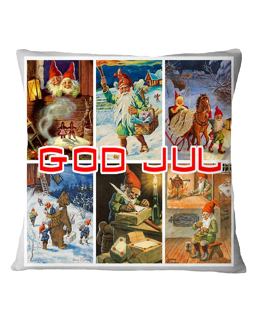 NORWAY GOD JUL NISSER Square Pillowcase