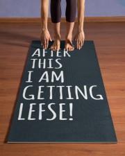 I AM GETTING LEFSE Yoga Mat 24x70 (vertical) aos-yoga-mat-lifestyle-26