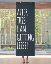 I AM GETTING LEFSE Yoga Mat 24x70 (vertical) aos-yoga-mat-lifestyle-27