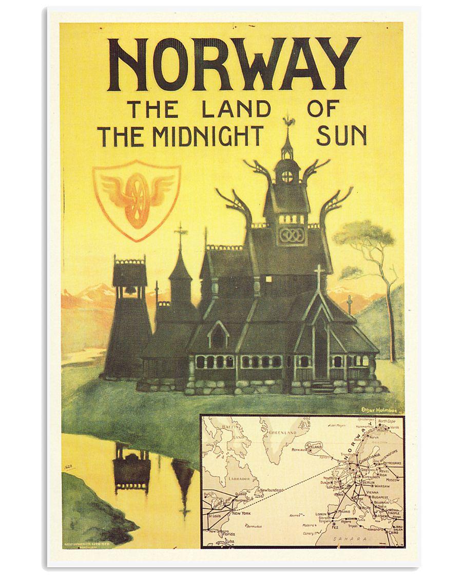 NORWAY VINTAGE TRAVEL 1905 11x17 Poster
