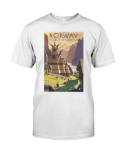 NORWAY VINTAGE TRAVEL 1905 Classic T-Shirt thumbnail
