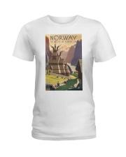 NORWAY VINTAGE TRAVEL 1905 Ladies T-Shirt tile