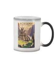 NORWAY VINTAGE TRAVEL 1905 Color Changing Mug tile