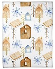 "NORWEGIAN WINTER PATTERN Small Fleece Blanket - 30"" x 40"" thumbnail"