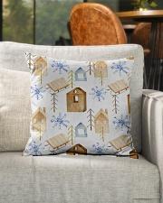 "NORWEGIAN WINTER PATTERN Indoor Pillow - 16"" x 16"" aos-decorative-pillow-lifestyle-front-04"