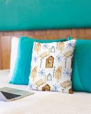 "NORWEGIAN WINTER PATTERN Indoor Pillow - 16"" x 16"" aos-decorative-pillow-lifestyle-front-10"