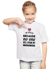 NORWEGIAN MORMOR SPANK Youth T-Shirt lifestyle-youth-tshirt-front-2