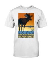 NORWAY MOOSE VINTAGE TRAVEL Classic T-Shirt thumbnail