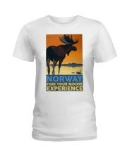 NORWAY MOOSE VINTAGE TRAVEL Ladies T-Shirt thumbnail