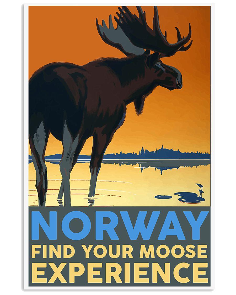NORWAY MOOSE VINTAGE TRAVEL 11x17 Poster
