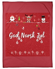 "GOD NORSK JUL Small Fleece Blanket - 30"" x 40"" thumbnail"