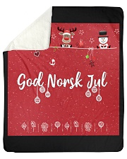 "GOD NORSK JUL Sherpa Fleece Blanket - 50"" x 60"" thumbnail"