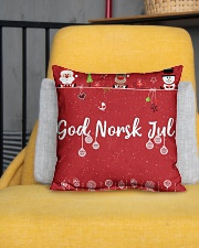 "GOD NORSK JUL Indoor Pillow - 16"" x 16"" aos-decorative-pillow-lifestyle-front-01"