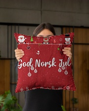 "GOD NORSK JUL Indoor Pillow - 16"" x 16"" aos-decorative-pillow-lifestyle-front-03"