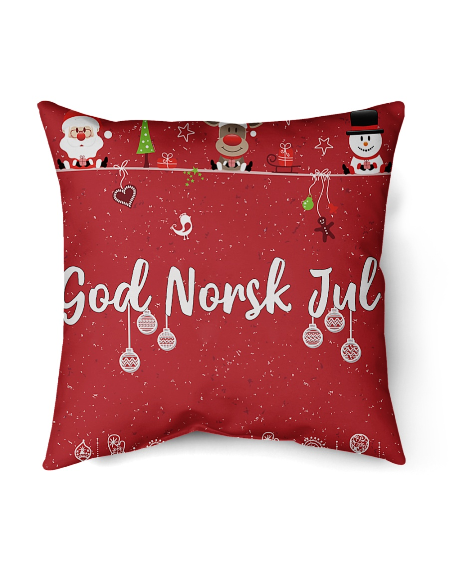 "GOD NORSK JUL Indoor Pillow - 16"" x 16"""