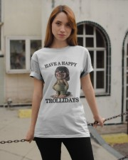 HAVE A HAPPY TROLLIDAYS Classic T-Shirt apparel-classic-tshirt-lifestyle-19