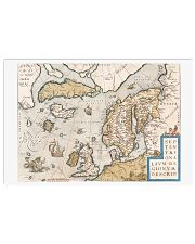 16th CENTURY MAP OF SCANDINAVIA 17x11 Poster front