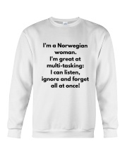 NORWEGIAN WOMAN MULTI TASKING Crewneck Sweatshirt thumbnail