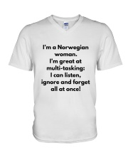 NORWEGIAN WOMAN MULTI TASKING V-Neck T-Shirt thumbnail