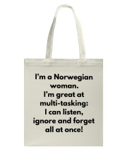 NORWEGIAN WOMAN MULTI TASKING Tote Bag thumbnail