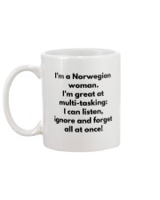 NORWEGIAN WOMAN MULTI TASKING Mug back