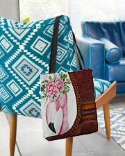 Flamingo Lady All-over Tote aos-all-over-tote-lifestyle-front-01
