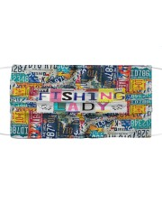 Fishing lady Cloth face mask front