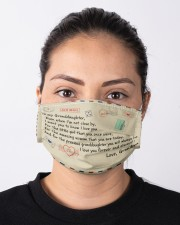To My Granddaughter Cloth face mask aos-face-mask-lifestyle-01