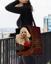 MY POODLE All-over Tote aos-all-over-tote-lifestyle-front-05