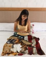 "BOXER LOVER Small Fleece Blanket - 30"" x 40"" aos-coral-fleece-blanket-30x40-lifestyle-front-12"