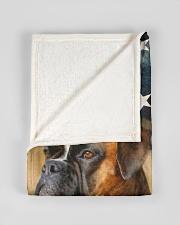 "BOXER LOVER Small Fleece Blanket - 30"" x 40"" aos-coral-fleece-blanket-30x40-lifestyle-front-17"