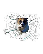 Jack Russell Terrier Sticker - 2 pack (Horizontal) front